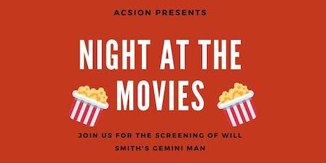 Movie Night with ACSION: Gemini Man tickets