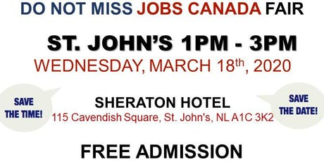 St. John's Job Fair - March 18th, 2019 tickets