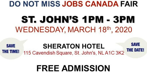 St. John's Job Fair - March 18th, 2019