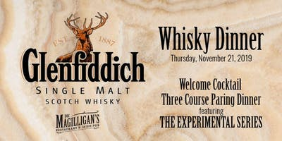 Glenfiddich Whisky Dinner featuring The Experimental Series