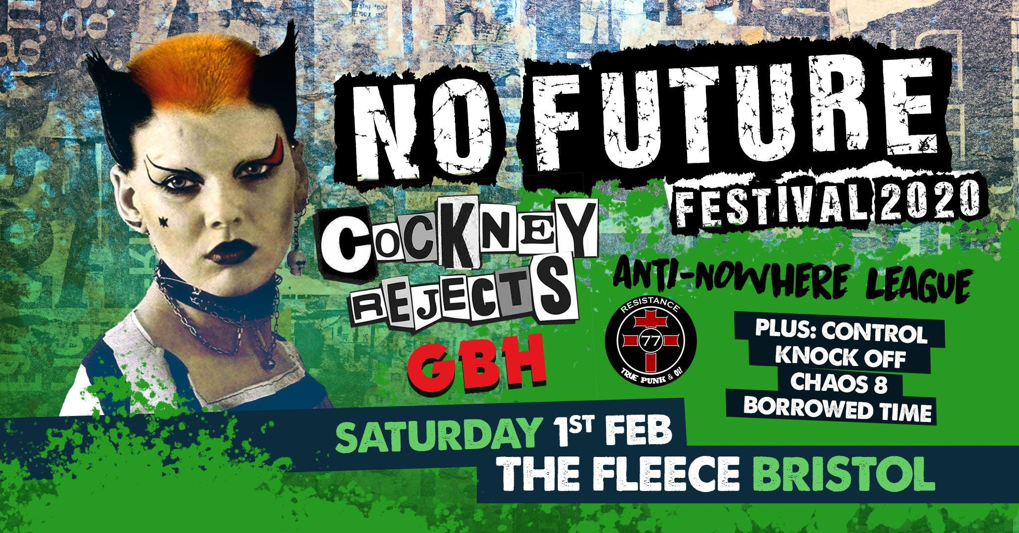 No Future Punk Festival 2020 ft. Cockney Rejects  Anti Nowhere League  More