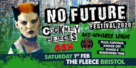 No Future Punk Festival 2020 ft. Cockney Rejects / Anti Nowhere League + More tickets