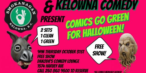Smokanagan presents Comics Go Green for Halloween!
