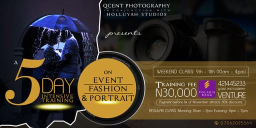 Intensive Training on Events,Portraits and Fashion Photography