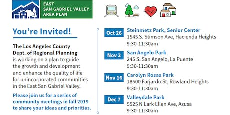 Community Visioning Workshop - Rowland Heights tickets