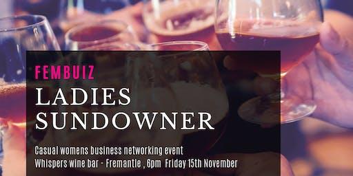 Womens Sundowner Event - Whisper Wine Bar Fremantle