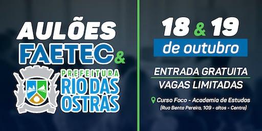 Aulão Inaugural Concursos FAETEC e Rio das Ostras