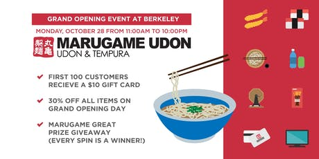 Marugame Udon Berkeley Grand Opening Event tickets