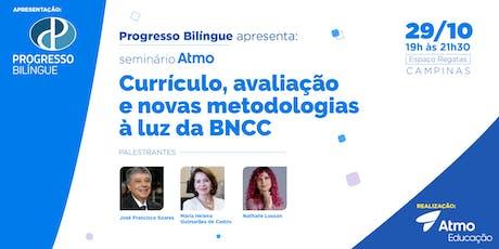 Currículo, avaliação e novas metodologias à luz da BNCC ingressos