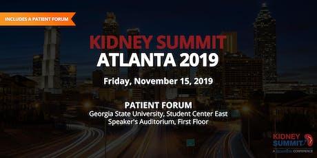 Kidney Summit Patient Forum tickets