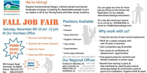 Landscape Job Fair Open House