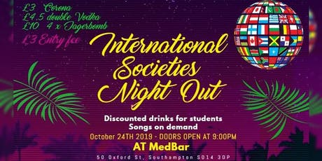International Societies Night Out tickets