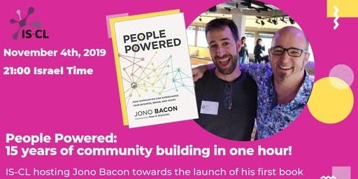 Live Webinar:Jono Bacon with key insights from his new book, People Powered