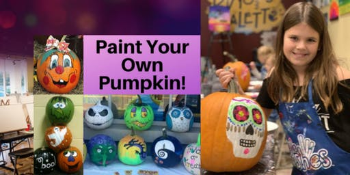 Paint Your Own Pumpkin Open Studio - Family Style Class Ages 6+ Welcome