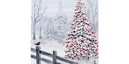 12/12 - Bird & Snowy Tree @ Helix Wines, Spokane