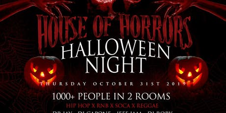 HALLOWEEN NIGHT HOUSE OF HORRORS COSTUME PARTY tickets