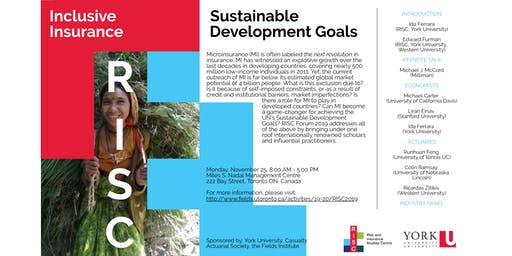 RISC Forum: Inclusive Insurance and Sustainable Development Goals