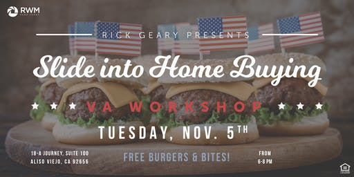 Slide Into Home Buying | Free Sips & Sliders At Our VA Seminar!
