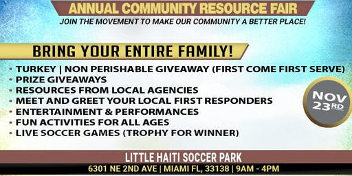 Turkey Giveaway- Annual Thanksgiving Community Resource Fair