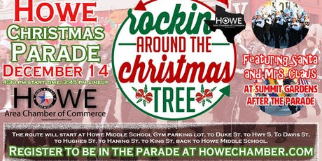 Howe Chamber's Downtown Christmas Parade 'Rockin Around the Christmas Tree' tickets