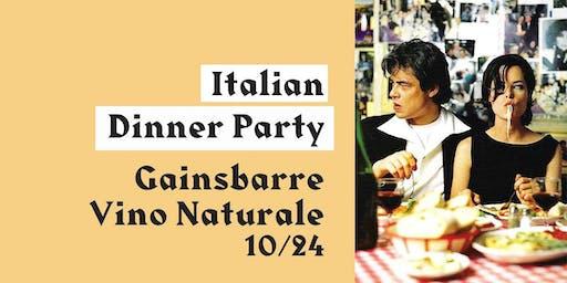 Italian wine dinner