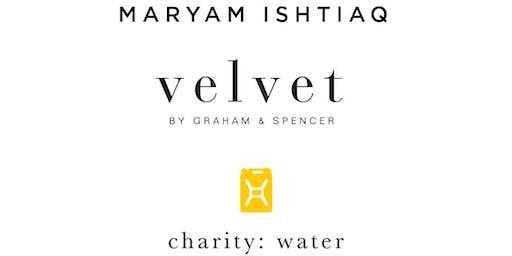 Velvet's Shop to Support Event with Maryam Ishtiaq