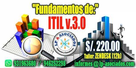FUNDAMENTOS DE ITIL v3 + Taller Zendesk entradas