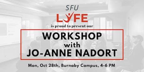 Interactive Workshop with Jo-Anne Nadort! tickets