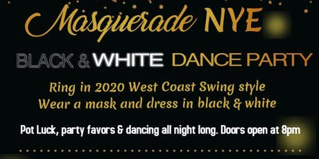 NYE Black & White Masquerade WCS Dance Party tickets