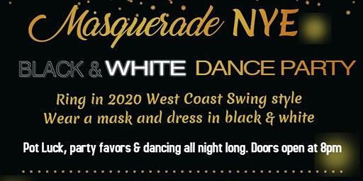 NYE Black & White Masquerade WCS Dance Party