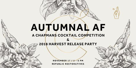 Autumnal AF: Chapmans Apple Brandy Cocktail Competition tickets