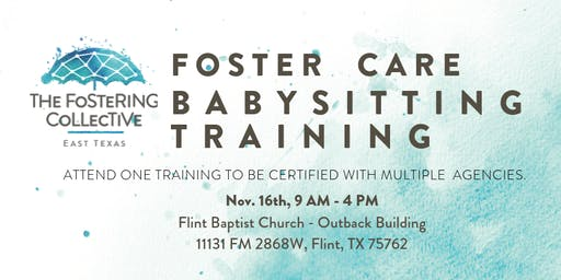 Foster Care Babysitting Training - November 16, 2019