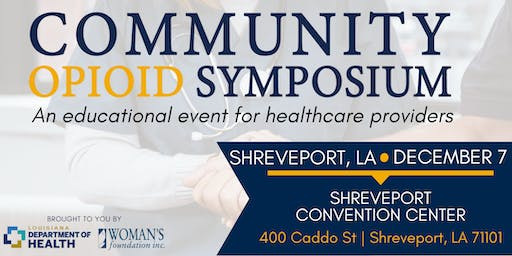 Community Opioid Symposium: An Educational Event for Healthcare Providers