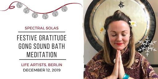 Festive Gratitude Gong Bath Meditation
