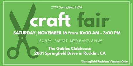 Springfield HOA Craft Fair tickets