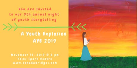 A Youth Explosion - AYE 2019 Youth Storytelling Event tickets