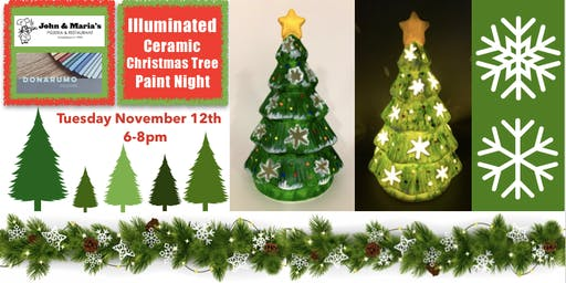Illuminated Ceramic Christmas Tree Paint Night