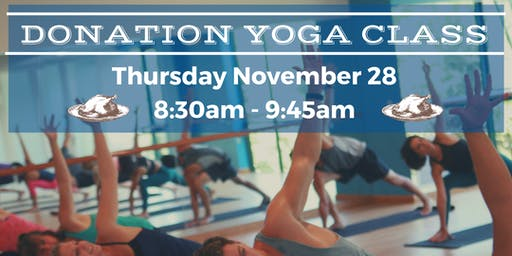 Thanksgiving Donation Yoga Class (non-heated)