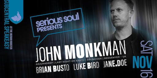 JOHN MONKMAN (Anjunadeep / Last Night On Earth / UK) in THE BASEMENT