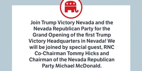 Oct. 22nd- Trump Victory Headquarters Opening w/ RNC Co-Chair Tommy Hicks tickets