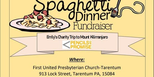 Spaghetti Dinner for Emily's Charity Trip to Mount Kilimanjaro
