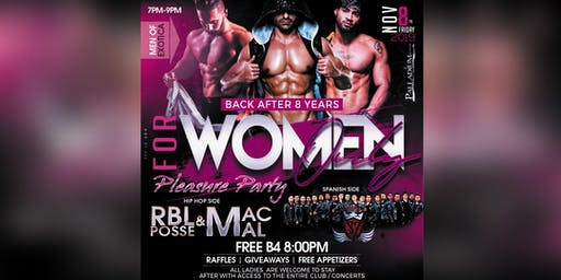 For Women Only Pleasure Party @ The Palladium - FREE BEFORE 8PM TICKET