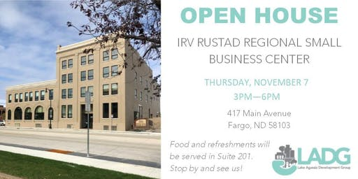 Irv Rustad Regional Small Business Center Open House