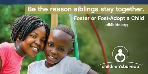 November is National Adoption Month - Foster or Foster-Adopt Siblings