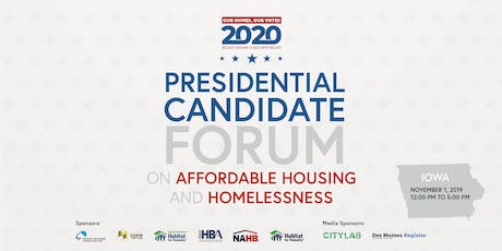 Our Homes, Our Votes: 2020 Presidential Forum on Affordable Housing tickets