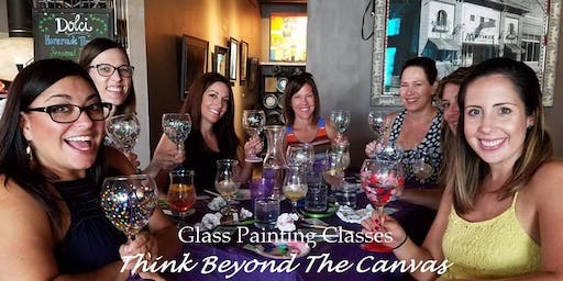 New Class! Join us for our Wine Glass Painting Party Workshop at We Olive & Wine Bar on 11/5 @ 6:30pm