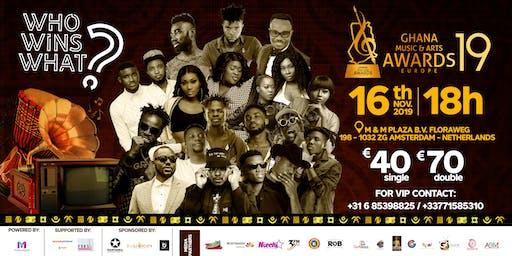 Ghana Music and Arts Awards Europe 2019