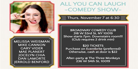 """COMEDY SHOW """"ALL YOU CAN LAUGH"""" tickets"""