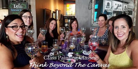 New Class! Join us for our Wine Glass Painting Party Workshop at We Olive & Wine Bar on 12/3 @ 6:30pm tickets