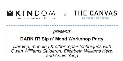 DARN IT! Sip n' Mend Workshop Party